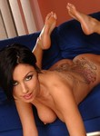 Nice titted Eva Black fingering and posing